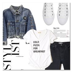 """minimalist"" by es-vee ❤ liked on Polyvore featuring RE/DONE, Hollister Co. and Converse"