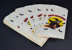 Vintage Paper Halloween Treat Bags by RelicsAndRhinestones on Etsy