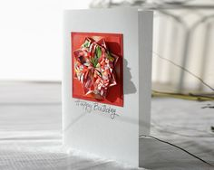 Origami Rosette Happy Birthday Art Card