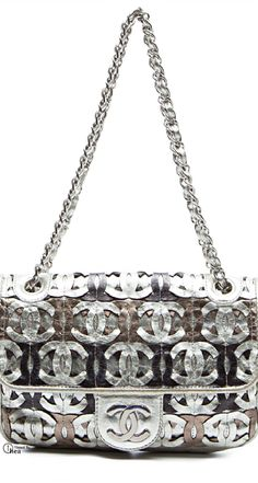 Chanel ● Limited Edition Metallic Etched Bag   020515