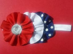 4th of July Headband Fourth of July Hair Bow by MommysBowCreations