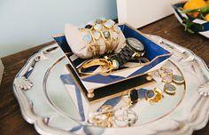 Meg Galligan Home Tour // jewelry display // Margaret Elizabeth Designs // silver tray // photography by Andi Hatch // styling by Meg Galligan