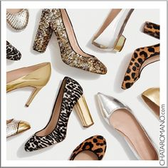 CHATA'S DAILY TIP: OOOOOH, a pair in each style please. Stack heels (thick heels) are a fabulous style option if you have good legs. If you have very thin or very full calves opt for tapered (shaped) heels instead.  COPY CREDIT: Chata Romano http://chataromano.com/consultant/chata-romano/ IMAGE CREDIT: J. Crew's Facebook page
