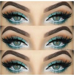 #Christmas #makeup eye shadow for blue eyes