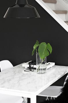 #Black & #white_marble #dining_room