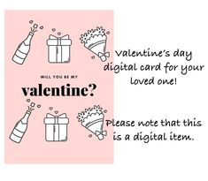 Valentine's day digital greeting card by Fdigitalstudio on Etsy Valentines Day, Greeting Cards, Stickers, Digital, Handmade Gifts, Etsy, Valentine's Day Diy, Kid Craft Gifts, Craft Gifts