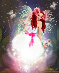 Dream of Butterfly My Fantasy World, Fantasy Art, Fantasy Fairies, Butterfly Fairy, Love Fairy, Angels Among Us, Believe In Magic, Magical Creatures, Amazing Art
