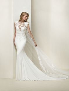 Pronounced mermaid wedding dress - Drail