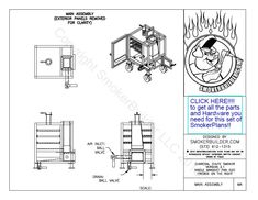 by Gravity Feed Smoker-The Mini Single Pan Build A Smoker, Diy Smoker, Weld On Hinges, Smoker Designs, Best Gas Grills, Wool Insulation, Offset Smoker, Backyard Kitchen, Welding Table