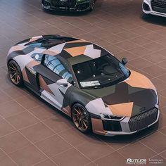 Design Cars, Audi Tt, Car Wrap, Super Cars, Wrapping, Camo, Wraps, Urban, Nice