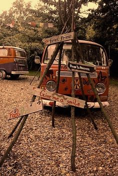 Of traveling in a VW bus with best friends!