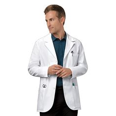 "Cherokee Men's Consultation 31"" Lab Coat 