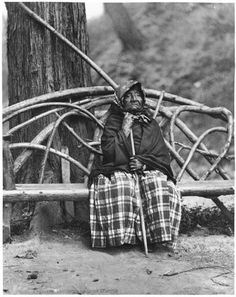 Kick-is-on-lo Cud (aka Angeline) the daughter of Si'ahl - Duwamish/Suquamish - 1892