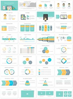 Computer PowerPoint template in flat design style with 36 pre-designed slides. This template is a great choice for presentations on marketing, programming, data entry, etc. Powerpoint Slide Designs, Powerpoint Design Templates, Creative Powerpoint, Power Points, Presentation Layout, Business Presentation, Web Design, Flat Design, Graphic Design