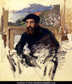 Self Portrait In His Atelier    Claude Oscar Monet