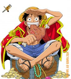 Pirate king #OnePiece #Anime Luffy