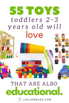 55 Toys for Toddlers Years Old that are Educational. From a teacher with a masters degree in teaching as well as child & adolescent development background. And a mom and nanny of many years :) Best Educational Toys, Educational Toys For Toddlers, Toddler Activities, Kids Toys, Educational Activities, Toddler Learning Toys, Educational Websites, Baby Learning, Indoor Activities