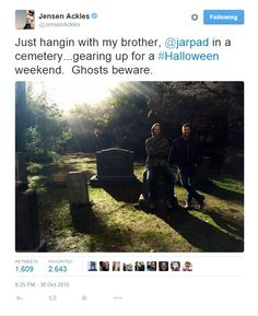 Jensen's Halloween tweet #supernatural