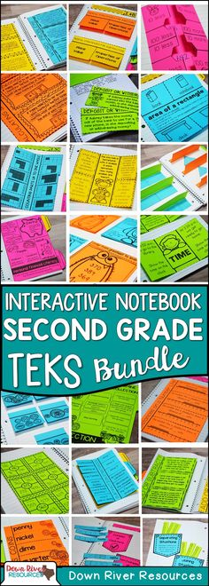 Second Grade Math Interactive Notebook | TEKS-aligned Second Grade Math Interactive Notebook | Math Interactive Notebook for Second Grade  | Topics include: Whole Numbers, Fractional Unit, Addition and Subtraction, U.S. Coin Collections, Contextual Multiplication and Division, Geometry, Measurement, Data Analysis, and Personal Financial Literacy.