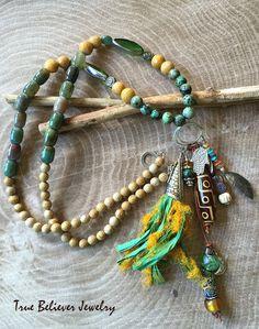 Elements – Long Beaded Talisman Necklace