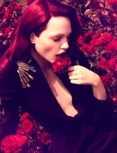 ❀ Flower Maiden Fantasy ❀ beautiful art fashion photography of women and flowers - Sasha Pivovarova by Camilla Akrans for Numéro #86
