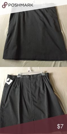"""Skirt New with tags size 22w grey lined machine washable width 19"""" length 22"""" Jaclyn Smith Skirts A-Line or Full"""