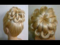 Einfache Frisuren:Hochsteckfrisur.Flechtfrisuren.Zopffrisur.Donut Hair Bun Updo Hairstyles.Peinados - YouTube