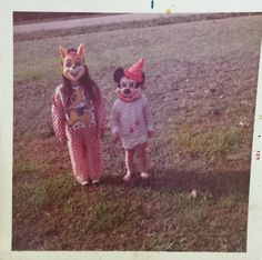 My relatives in Halloween masks in the early 1970's.