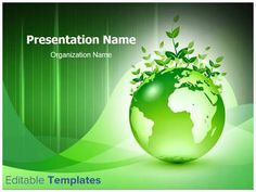 Be effective with your PowerPoint presentations by simply putting your content in our Green Earth PowerPoint design template.
