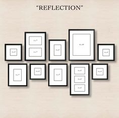 Creating a gallery wall - reflection