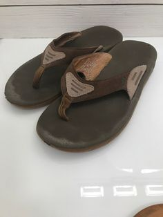 44ae835af31e Reef Leather Straps Brown Sandals Mens 9 UK 41 - 42  Reef  FlipFlops