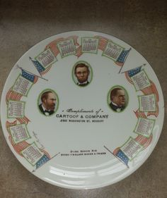"1912 Advertising Premium Calendar Plate ""Our Martyrs"" Assassinated Presidents by 3LittleWitches on Etsy"