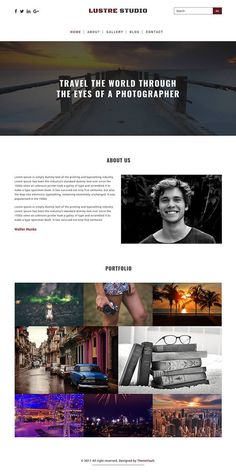 Luster Studio responsive html5 photograpy website template designed with css3 & bootstrap.