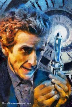 THE 12th DOCTORcover painting for the Titan Comics DOCTOR WHO series © Mark Wheatley. ARR