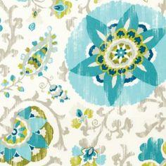 Aruba Turquoise Easycare Fabric by the Yard | Ballard Designs