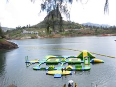 Wibit Sports Park on a lake in Colombia.