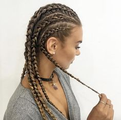 Cornrow highlights by Jacque Morrison