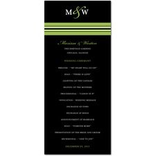 Monogram Stripe Wedding Programs