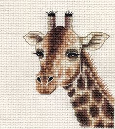 GIRAFFE ~ Full counted cross stitch kit + All materials that you need