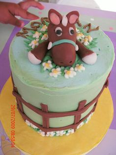 Horse Birthday Cakes for Girls | This small smash cake was in addition to a larger horse themed cake I ...