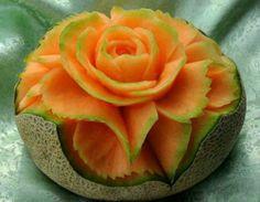 amazing fruit carving | beautiful food