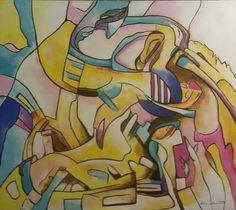 """""""Vášeň"""", akryl 80x90 cm."""