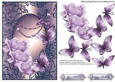 Beautiful Butterfly's And Roses Card Front