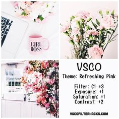 Discover recipes, home ideas, style inspiration and other ideas to try. Instagram Feed Vsco, Instagram Theme Vsco, Pink Instagram, Photo Instagram, Photography Filters, Photography Editing, Travel Photography, Vsco Gratis, Fotografia Vsco