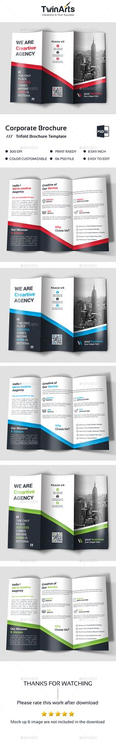 Sqaure Trifold Brochure Brochures, Brochure template and Template - advertising brochure template