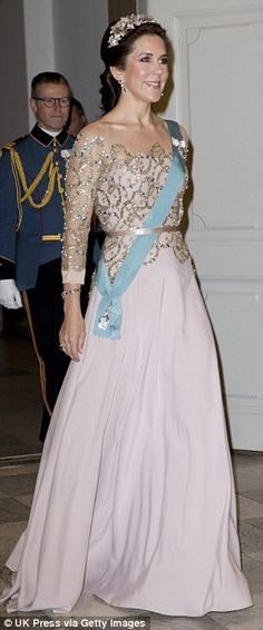 Glamorous: Denmark's Australian-born Crown Princess is another royal Mary...