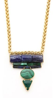 chunky stone necklace from wouters & hendrix.