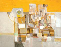 Roberto Burle Marx - untitled, Oil on canvas, 1987