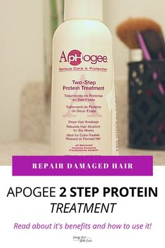 Find out How to Use Aphogee 2 step protein treatment to repair damaged natural curly hair. A Black blogger follows the steps of this haircare product and shares her review! Pros and Cons! #NaturalHairCare #NaturalHairProducts