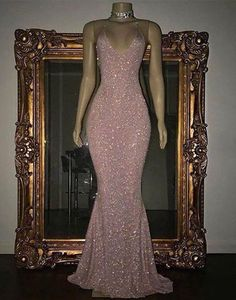 Pink sequin mermaid long prom dresses, sequin evening dresses,HS841 #fashion#promdress#eveningdress#promgowns#cocktaildress